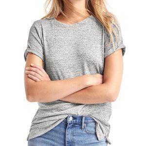 GAP Softspun Knit Roll-Sleeve Tee